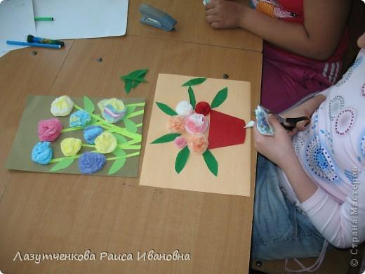 Лера выбрала себе работу с бумажными салфетками. фото 5
