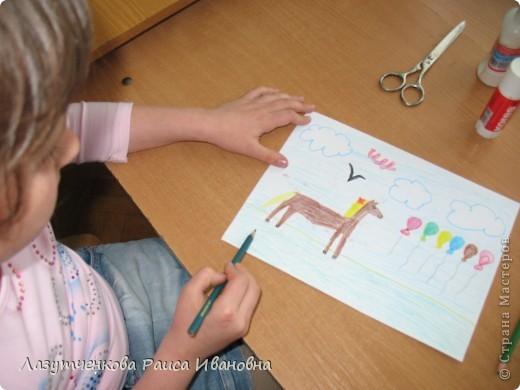 Еще одна работа Леры. Уж очень ей хотелось нарисовать лошадку. фото 2