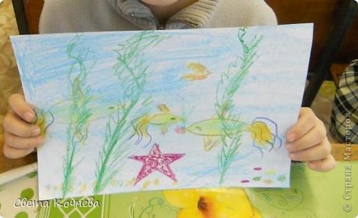 """""""Море, море - мир бездонный..."""" Так поётся в известной песне. Море всегда представляется синим и глубоким. Но очень хочется заглянуть в него и увидеть что же происходит на дне этого синего и глубокого моря, кто там живёт... А могут жить такие золотые рыбки,  красные звёзды и зелёные водоросли. А сколько разноцветных камней на дне? фото 4"""