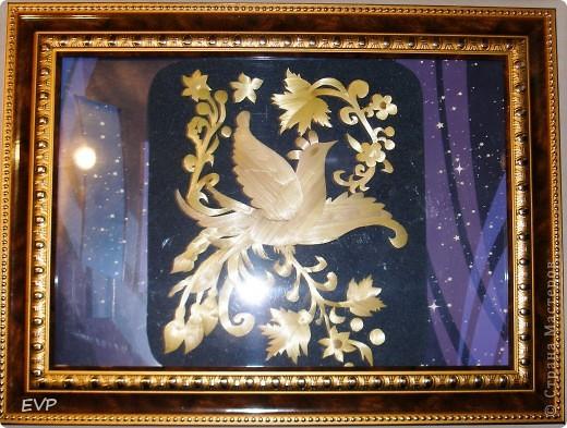 """7 августа - Спожинки. Сделала кртину по мотивам хохломской росписи. Назвала свою работу - """"Птица счастья"""". Фотография без рамки и стекла фото 8"""
