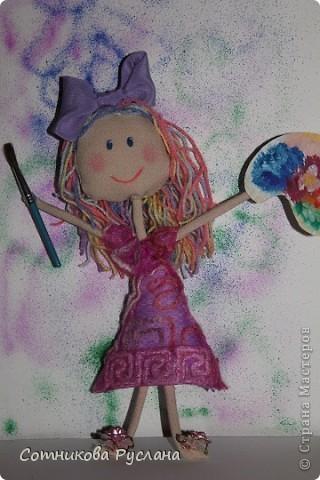 Уф..., успела...  Мне пришла идея совместить куклотерапию и цветотерапию... фото 4