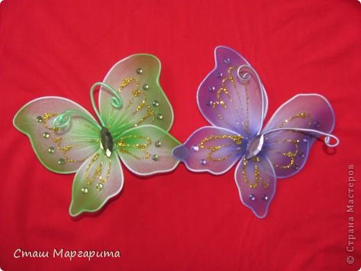 Как сделать бабочек с проволоки и капрона