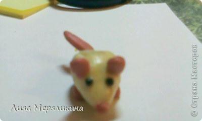 Мышь из пластелина фото 1