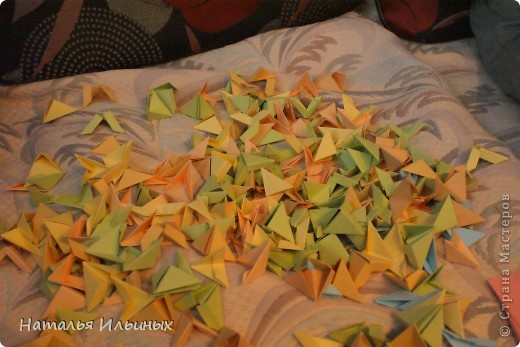 Я очень люблю животных. Свою работу я выполнила в технике модульного оригами.  фото 2