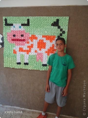 Наша Буренка приветствует всех,любящих оригами также,как любим его мы!!!!!!!!! фото 6