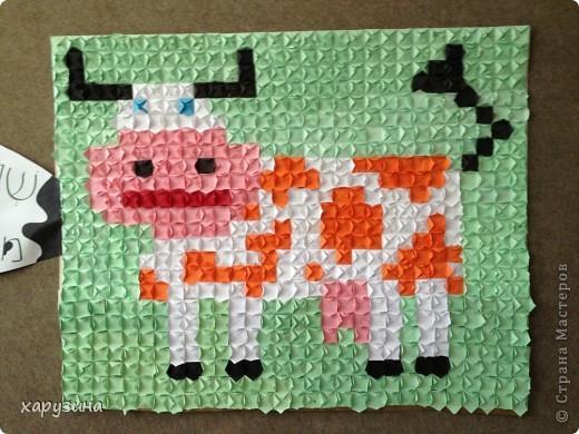 Наша Буренка приветствует всех,любящих оригами также,как любим его мы!!!!!!!!! фото 1