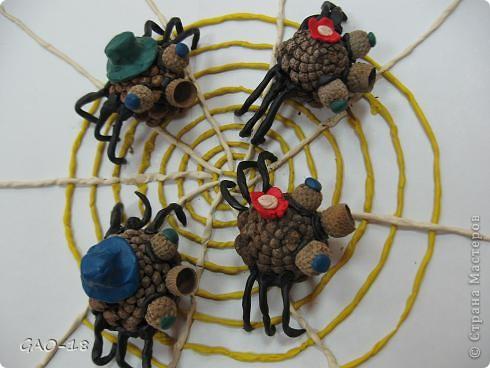 На тоненькой ветке висят паутинки. Из них паучата рисуют картинки. Сегодня по плану урок рисованья. Им важный паук объясняет заданье:  фото 3