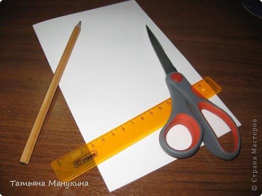 """Вот открытка которую я сделала на """"День карандаша"""". Получилось очень красиво) фото 3"""