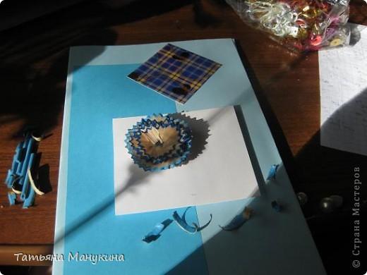 """Вот открытка которую я сделала на """"День карандаша"""". Получилось очень красиво) фото 6"""