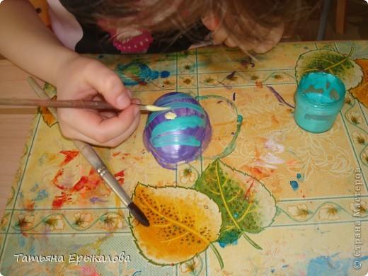 Вместе в воспитанниками мы организовали выставку пасхальных яйц. фото 5