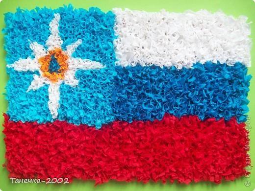 27 декабря День спасателя.Я решила к этому празднику сделать флаг МЧС. фото 4
