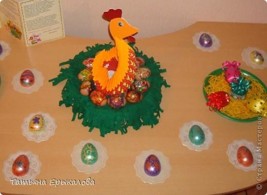 Вместе в воспитанниками мы организовали выставку пасхальных яйц. фото 1