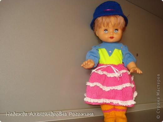 Модница готова. Обязательный атрибут - шляпка, подчёркнута тонкая талия.  фото 2