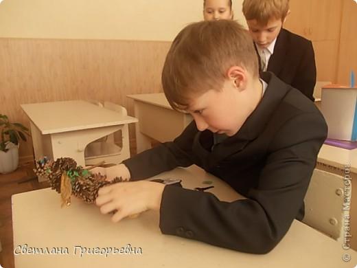 Вот такой Леший получился у Вани, к сожалению, сфотографировали дети работу вертикально. фото 6
