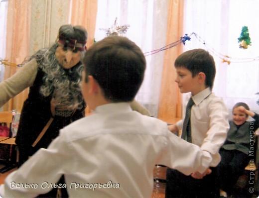 """К новому году для ребят своего класса я готовила представление """"Театральные затеи Бабы Яги"""". Маску Бабы Яги нигде не смогла найти. Поэтому решила сделать её сама.  фото 9"""