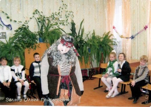 """К новому году для ребят своего класса я готовила представление """"Театральные затеи Бабы Яги"""". Маску Бабы Яги нигде не смогла найти. Поэтому решила сделать её сама.  фото 8"""