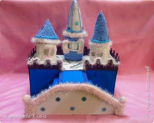 Добрый день, уважаемые мастерицы! Я на конкурс приготовила вот такой сказочный дворец для Снежной королевы. фото 7