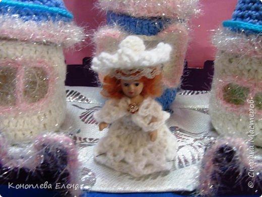 Добрый день, уважаемые мастерицы! Я на конкурс приготовила вот такой сказочный дворец для Снежной королевы. фото 8