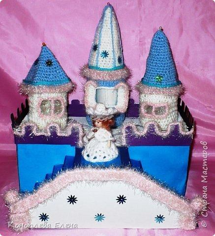 Добрый день, уважаемые мастерицы! Я на конкурс приготовила вот такой сказочный дворец для Снежной королевы. фото 1