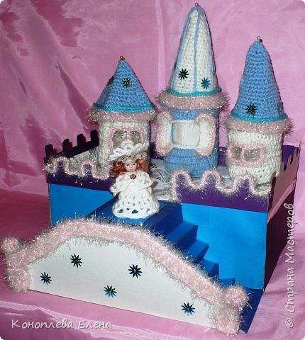 Добрый день, уважаемые мастерицы! Я на конкурс приготовила вот такой сказочный дворец для Снежной королевы. фото 9