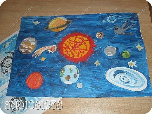 Я с самого первого дня хотела принять участие в конкурсе! И конечно же моя любимая техника-это рисование, ведь я уже 5 лет хожу в художественную школу. Решила изобразить в своей работе планеты солнечной системы, вот что получилось из этого. фото 5