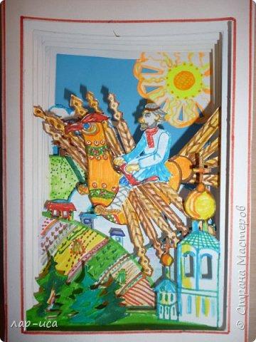 """Во многих сказках отражается мечта человека к полету - это баба Яга в ступе и на метле, Иван-царевич на крылатом коне, летучий корабль, полет на ядре Мюнхгаузена, мне же захотелось сделать русского мастерового- столяра из сказки """"Деревянный орел"""". А орел,чем не прообраз самолета. фото 5"""