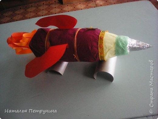 Поделка ракета из бутылки фото 1