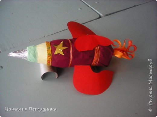 Поделка ракета из бутылки фото 2