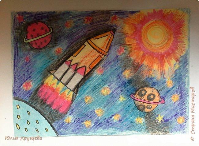 """Добрый день жители страны Мастеров! В этом году исполняется юбилейная дата 55 лет со дня первого полета человека в космос! Как же это здорово! Мы с моей ученицей Элиной решили принять участие в номинации  """"Зов неба"""" фото 1"""