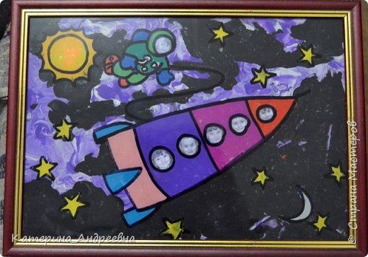 Мы впервые решили участвовать в конкурсе. Тема космоса нам очень интересна, потому что мы земляки Юрия Алексеевича Гагарина.  фото 1