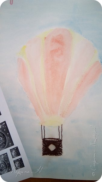 Воздушный шар выполнен в технике изонить фото 4