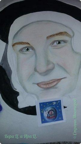 Свою работу я посвящаю моей землячке - Валентине Владимировне Терешковой - первой в мире женщине-космонавту. Свой полёт  Терешкова совершила 16 июня 1963 года на космическом корабле Восток-6, он продолжался почти трое суток. Всем известны позывной  Валентины Владимировны на время полёта - «Чайка» - и фраза, которую она произнесла перед стартом: «Эй! Небо! Сними шляпу!». фото 4