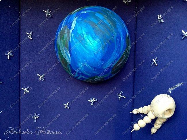 """Луна очень многих привлекала своей загадочностью! Вот и девочки не обошли её своим вниманием. Они создали макет-книгу """"Луна: хочу всё знать!"""" Макет не маленький, размером 35х50, высотой 10 см фото 12"""