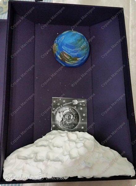 """Луна очень многих привлекала своей загадочностью! Вот и девочки не обошли её своим вниманием. Они создали макет-книгу """"Луна: хочу всё знать!"""" Макет не маленький, размером 35х50, высотой 10 см фото 7"""