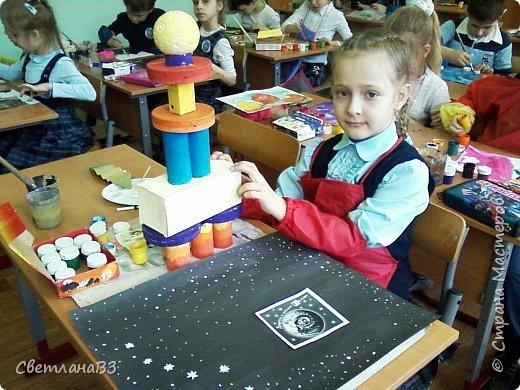 Абрамова Алиса 1 класс  На даче летом вижу я Красивый звёздный ковш. Отправлю звездолёт туда, Как только ты уснёшь. фото 6