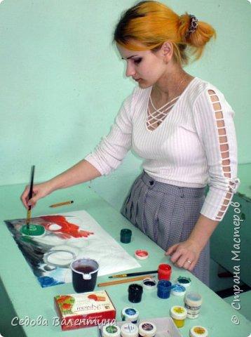 """Я, Шарапова Надежда, очень люблю рисовать космос. У меня много работ на эту тему. Я хочу представить Вашему вниманию свою работу """"Галактика"""", формат А3. Рисунок выполнен гуашью. фото 4"""