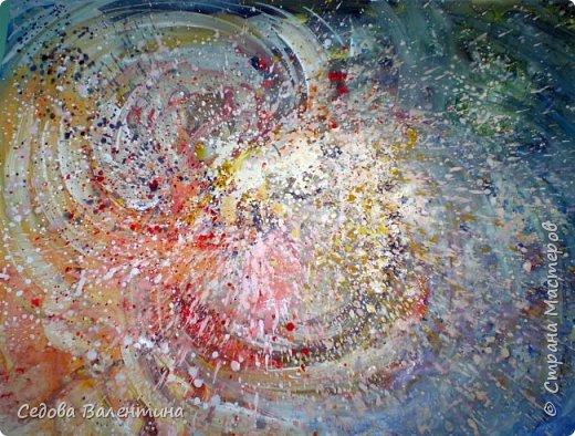 """Я, Шарапова Надежда, очень люблю рисовать космос. У меня много работ на эту тему. Я хочу представить Вашему вниманию свою работу """"Галактика"""", формат А3. Рисунок выполнен гуашью. фото 1"""