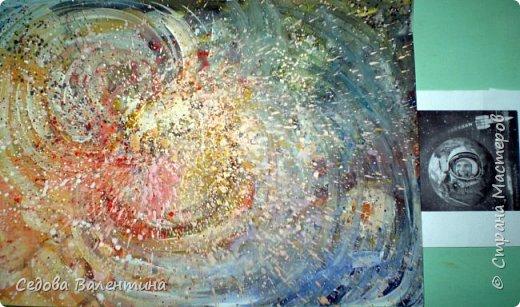 """Я, Шарапова Надежда, очень люблю рисовать космос. У меня много работ на эту тему. Я хочу представить Вашему вниманию свою работу """"Галактика"""", формат А3. Рисунок выполнен гуашью. фото 8"""