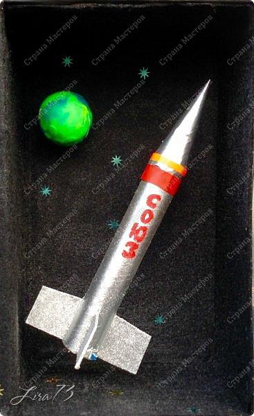 """Всем здравствуйте! Представляю ещё одну совместную работу моих учеников, а точнее дуэта девочек - мини-макет полёта ракеты """"Союз"""" фото 1"""