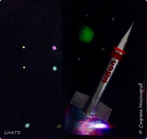 """Всем здравствуйте! Представляю ещё одну совместную работу моих учеников, а точнее дуэта девочек - мини-макет полёта ракеты """"Союз"""" фото 10"""