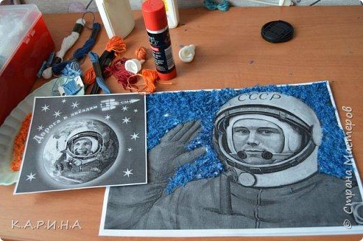 Портрет Ю.А.Гагарина фото 4