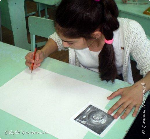 """Представляем вашему вниманию работу """"Космическое небо"""" Исмаиловой Назрин, выполненную в технике салфеточная аппликация. фото 2"""