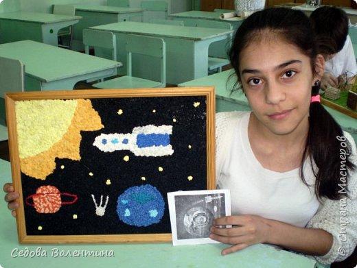 """Представляем вашему вниманию работу """"Космическое небо"""" Исмаиловой Назрин, выполненную в технике салфеточная аппликация. фото 6"""