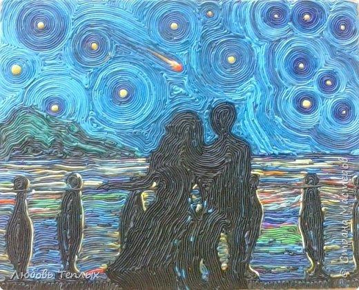 """Источник вдохновения - картина Ван Гога """"Звездная ночь"""" фото 7"""