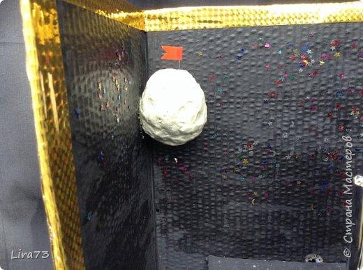 Ещё одна группа ребят, желая принять участие в конкурсе, решила создать макет ракеты, которая совершила полёт на Луну. фото 4