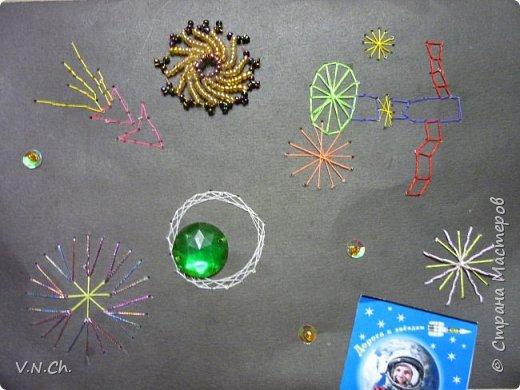 У одноклассника день рождения. Поспрашивала у его друзей об увлечениях - рисует какое-то фантастическое небо, звёзды. Решила подарить собственную открытку. фото 1
