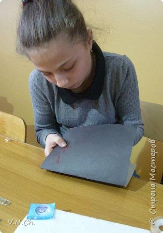 У одноклассника день рождения. Поспрашивала у его друзей об увлечениях - рисует какое-то фантастическое небо, звёзды. Решила подарить собственную открытку. фото 3