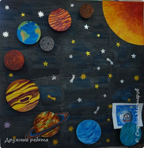 Наша Солнечная система-это наш дом в бесконечной Вселенной. Поэтому мы решили сделать ее макет. фото 1
