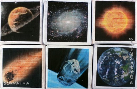 """Игра -викторина """"Космос"""" представляет собой набор из шести кубиков. На гранях изображения - вопросы. Шесть граней отражают шесть тем космонавтики.(Вопросы викторины и ответы смотрите далее) фото 3"""