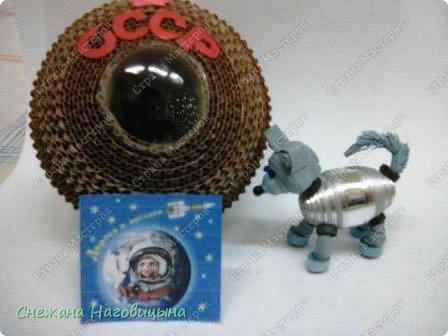 Наша работа посвящена собакам-космонавтам. 25 марта 1961 году перед запуском человека-космонавта была запущена в космос последняя собака-космонавт Звёздочка.Полет прошел нормально, аппарат совершил посадку в Удмуртии и некоторое время Звёздочка жила в Ижевске, пока ее не увезли в Москву. фото 9